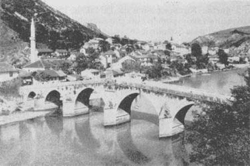 Stara ćuprija u Konjicu, srušena u II svjetskom ratu